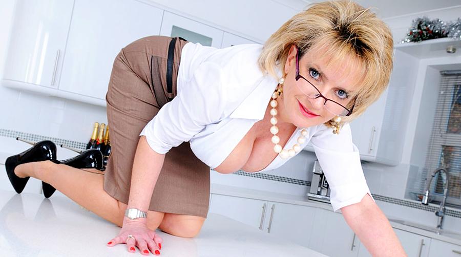 Brunette women working in business suit